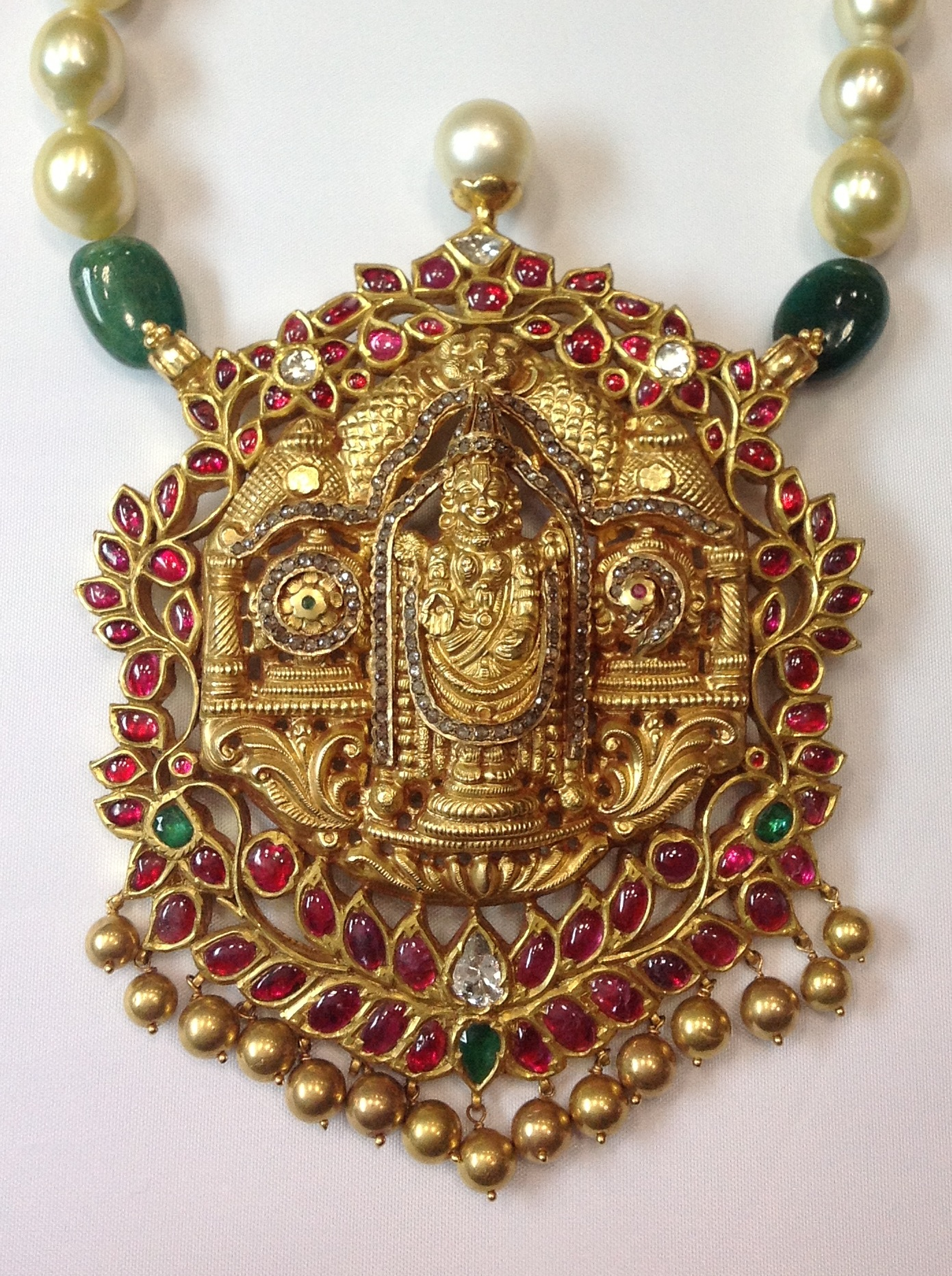 gundala jewellery with kamadenu haram side gold south designs india jewels lockets gundla from